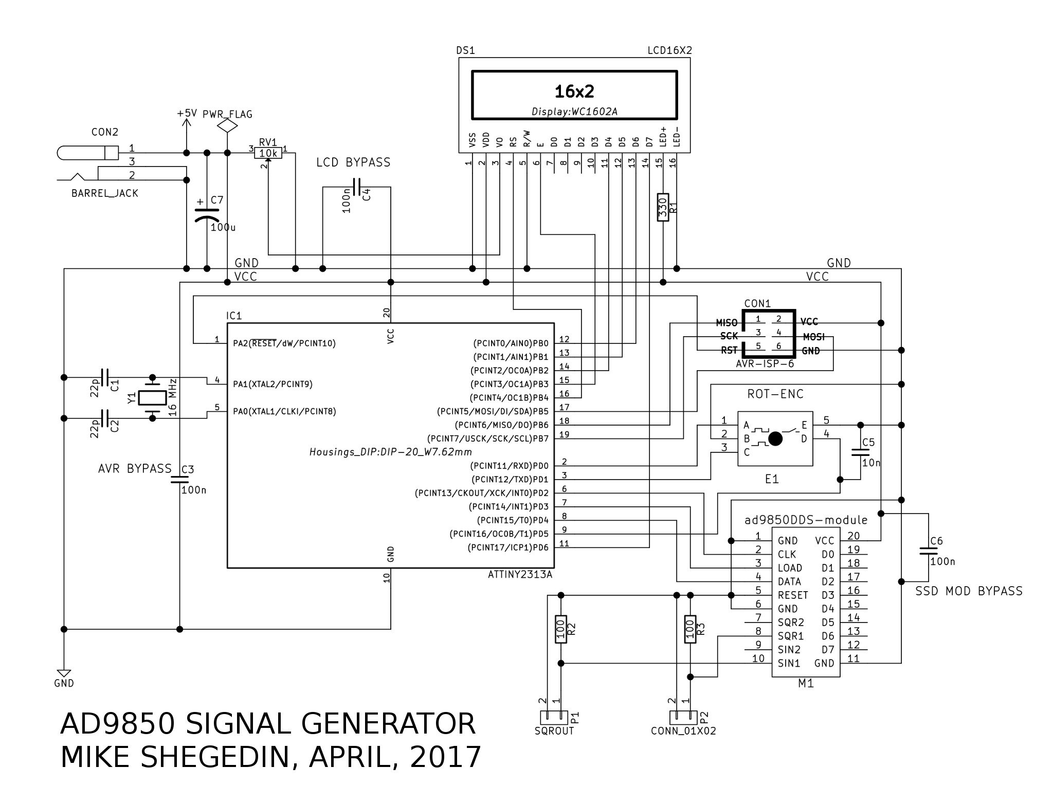 AD9850 Based Signal Generator at EZdenki com